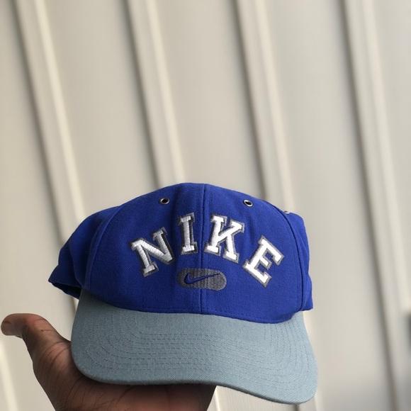 290761651 Vtg Nike Spellout Swoosh Logo Men's Snapback Hat